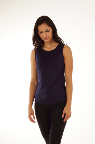 Relaxed Bamboo Tank - Navy