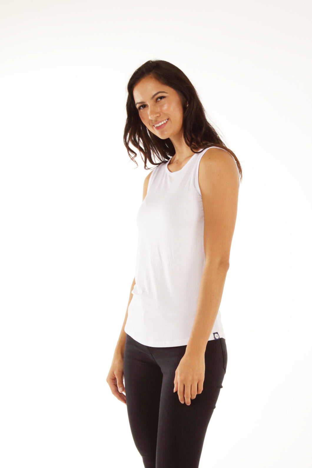 Relaxed Bamboo Tank - White