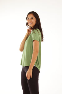 Relaxed Fit Batwing Bamboo Tee - Forest (MkII)