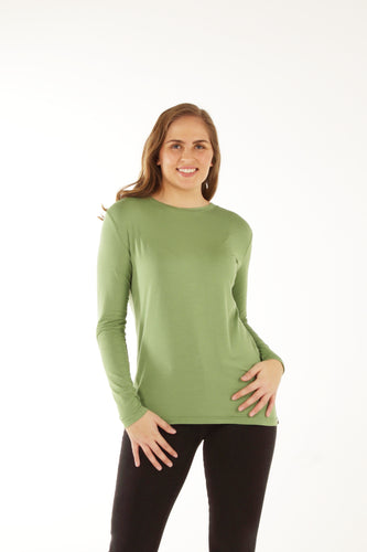 Relaxed Fit Bamboo Long Sleeve - Forest