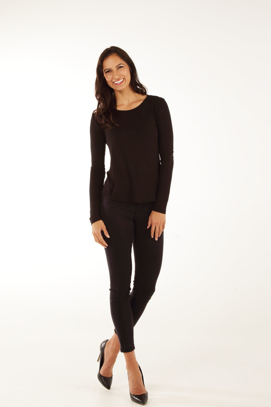 Classic Fit Bamboo Long Sleeve - Black