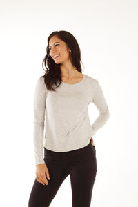 Classic Fit Bamboo Long Sleeve - Grey