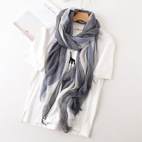 Bamboo Scarf - Navy