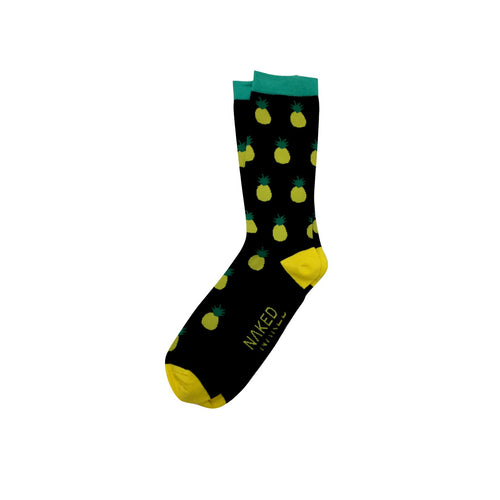 Men's Bamboo Socks - Pineapple