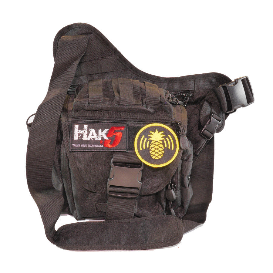Tactical EDC Shoulder Bag with Morale Patches - Hak5