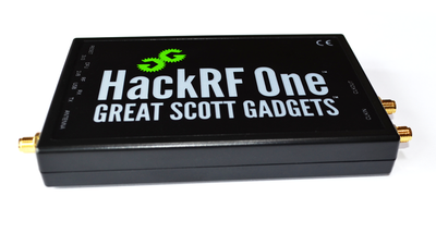HackRF One with ANT500 Telescopic Antenna
