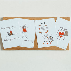 Little Big Doodlets | Tiny Print Set | Notecard Set | Gift tag set | Set of 8