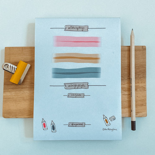 Little Big Things Gratitude Notepad | Daily Highlights and Doodle Pad | Desk pad.