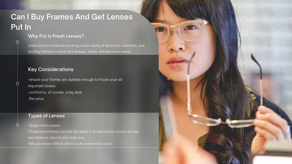 Can I Buy Frames And Get Lenses  Put In?