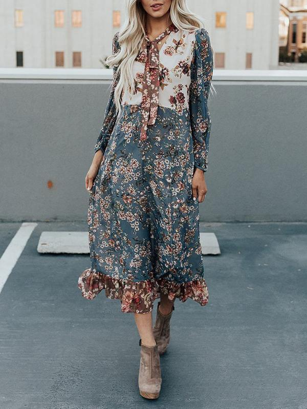 All Eyes On Me Floral Maxi Dress