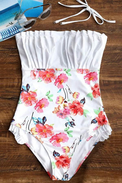 Beachsissi Heather Floral One Piece Swimsuit
