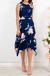 Dress In Navy With Blush Floral