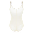 Latex Zip Front Open Bust Push Up Flat Tummy Adjustable Bodysuits