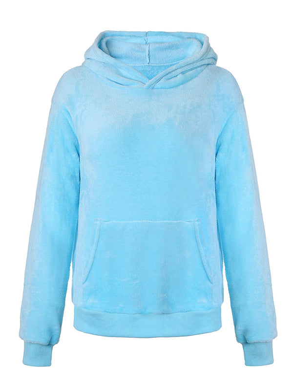 7Colors S-3XL Women Solid Hoodie Sweatshirts