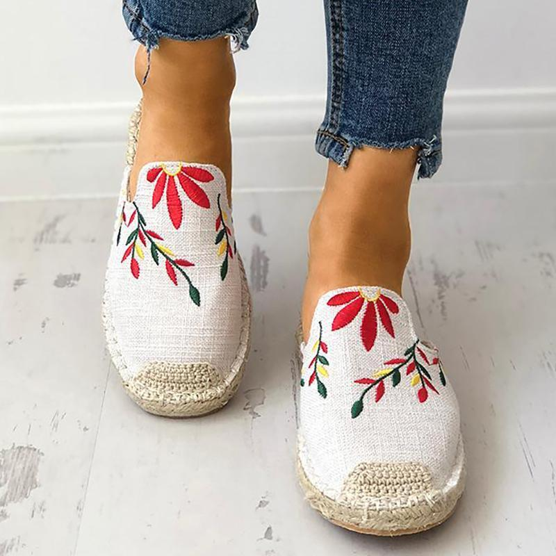 TOMS Women Embroidered Classic Canvas Loafers