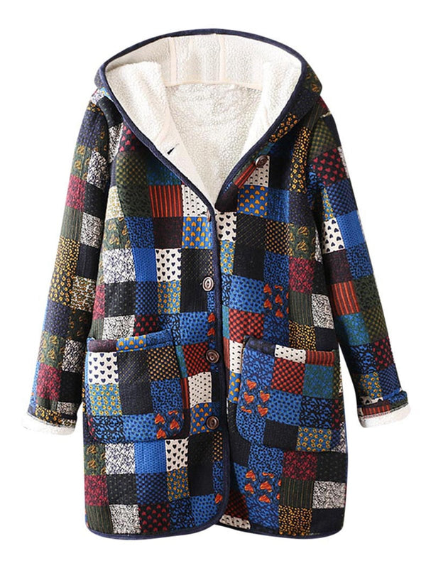 2019 Women Winter Thicken Warm checkered Coats