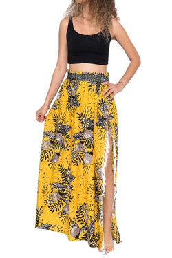 Z| Chicloth Summer Blossom Maxi Skirt-Cover Ups-Chicloth