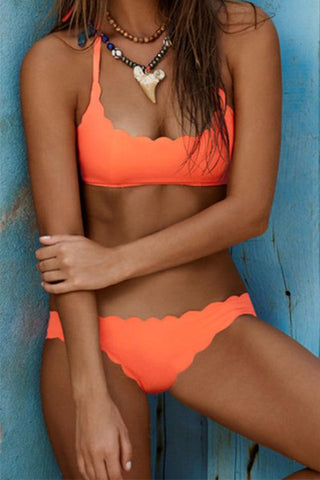 GirlOnStyle Vibrant Summer Wave Bikini Set