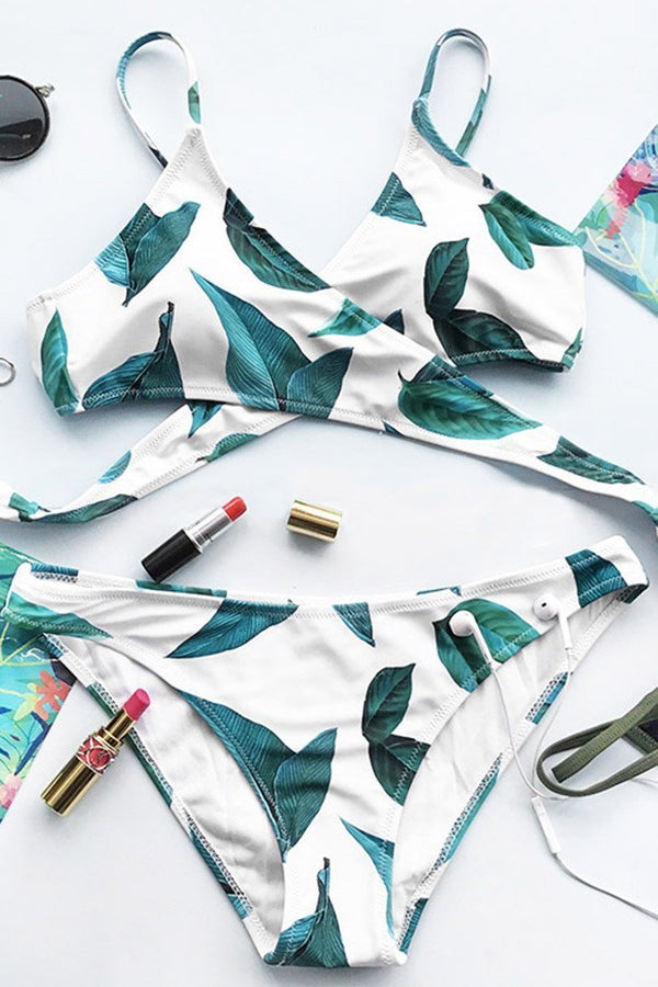 Court And Spark Fresh Leaves Bikini Set