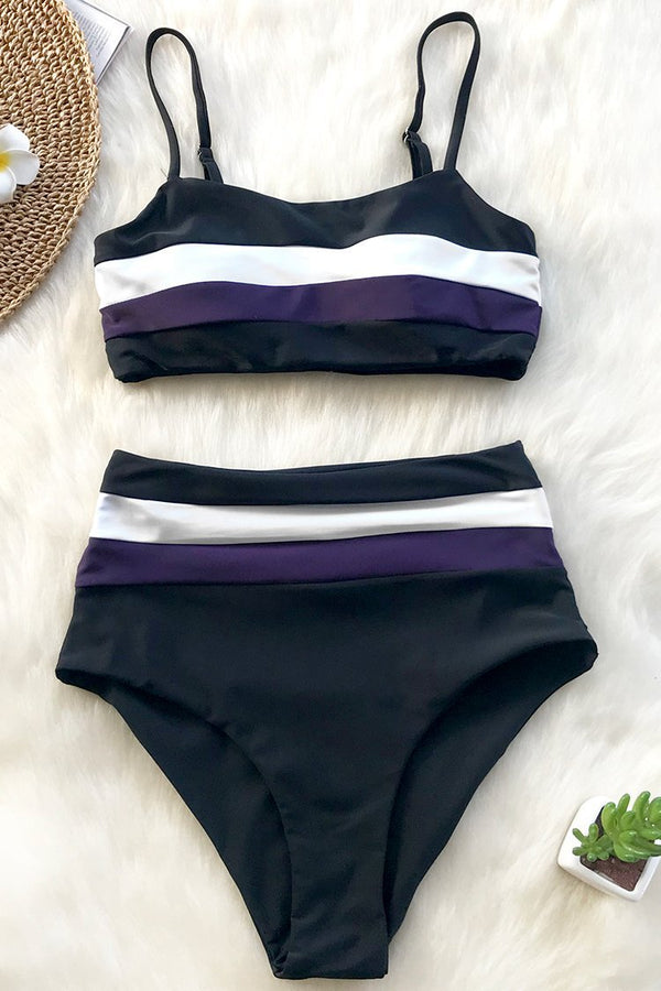 SUMMER CHOCOLATE HIGH-WAISTED BIKINI SET