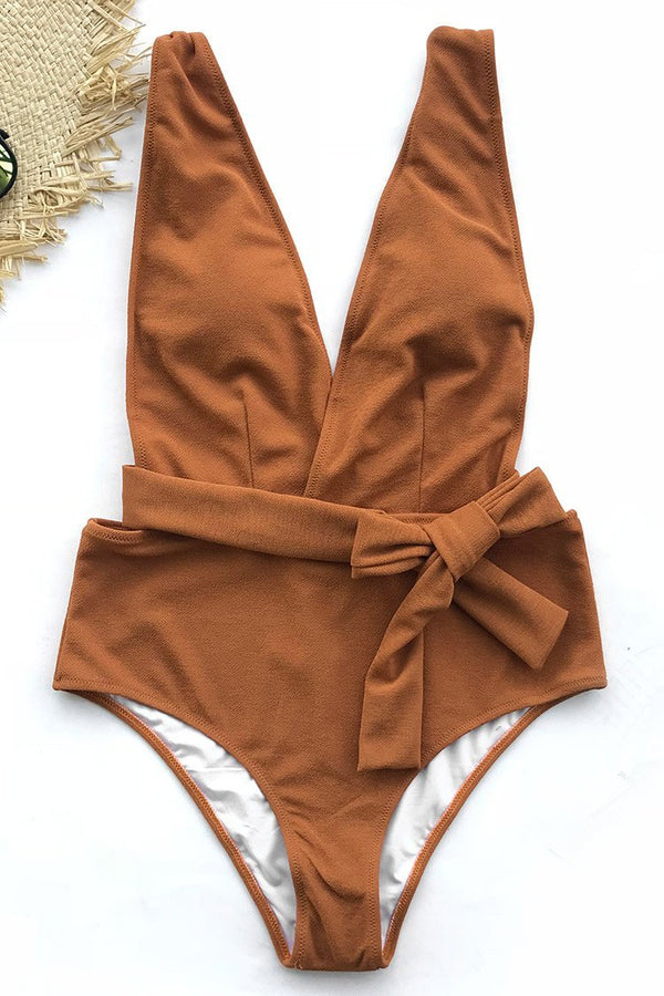 SEA ESCAPE SOLID ONE-PIECE SWIMSUIT