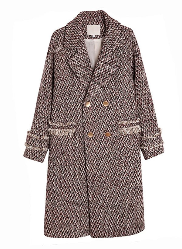 Double-breasted Tweed Overcoat