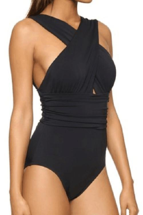 Deep Feelings Cross One-piece Swimsuit