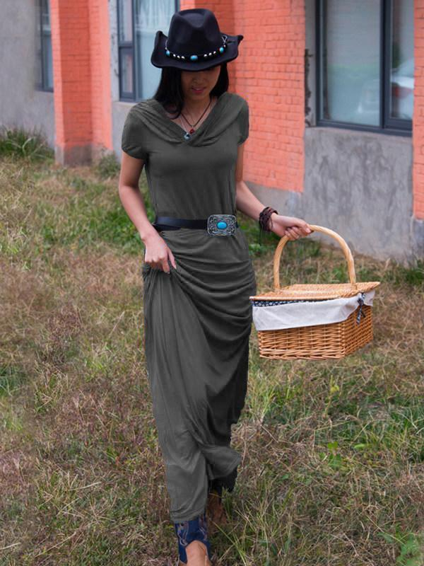 Vintage Sleeveless Slim Fit Maxi Dress