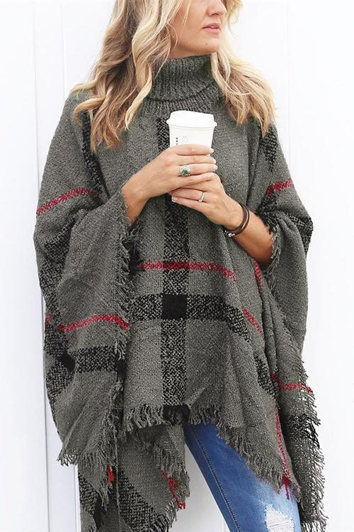 Eyes On You Tassel Poncho Sweaters