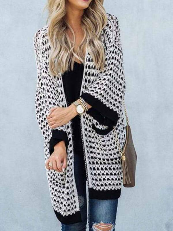 Casual Geometric Printed Cardigan