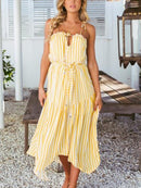Striped Casual Irregular Dress