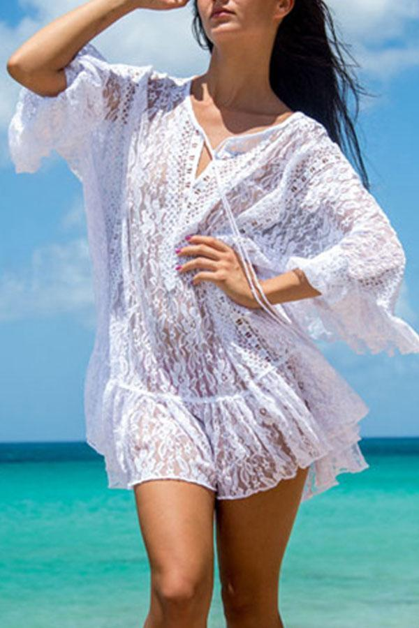Chasing My Dreams White Cover Up - beachsissi