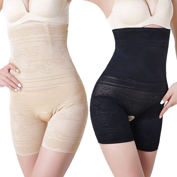 Plus Size Open Crotch High Wast Tummy Control Shapewear
