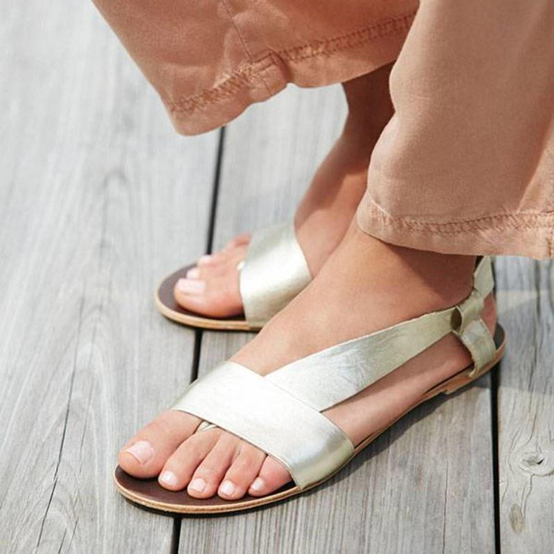 Daily Slip On Supple Asymmetrical Strap Sandals