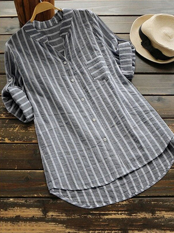 Casual Loose Tunic Long Sleeve Blouse