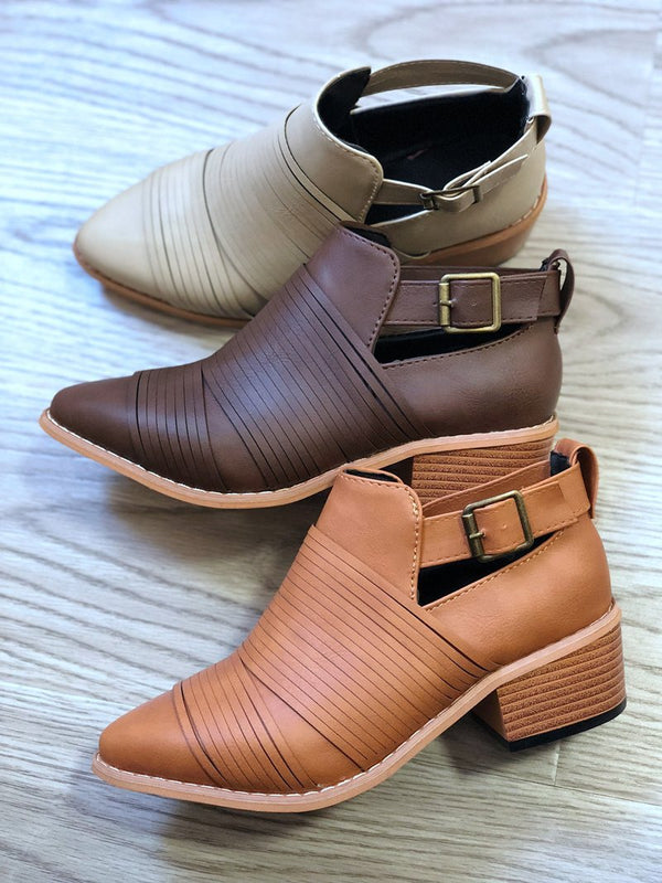 Women Fashion Thick buckle Martin boots