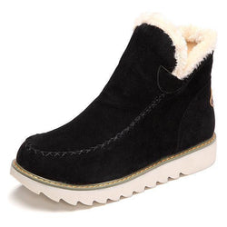 Women's Snow Boots Plus Size Fur Lined Middle Snow Boots