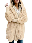 Casual Faux Fur Hoodie Coat - fashionnana