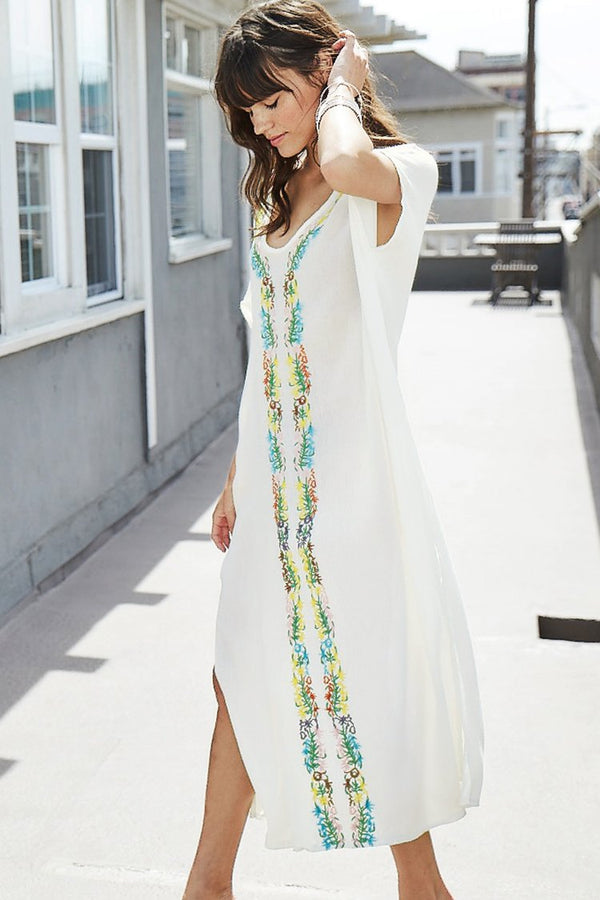 SANDY CAY WHITE EMBROIDERY COVER UP