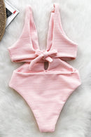 SHINE FOR U SOLID ONE-PIECE SWIMSUIT