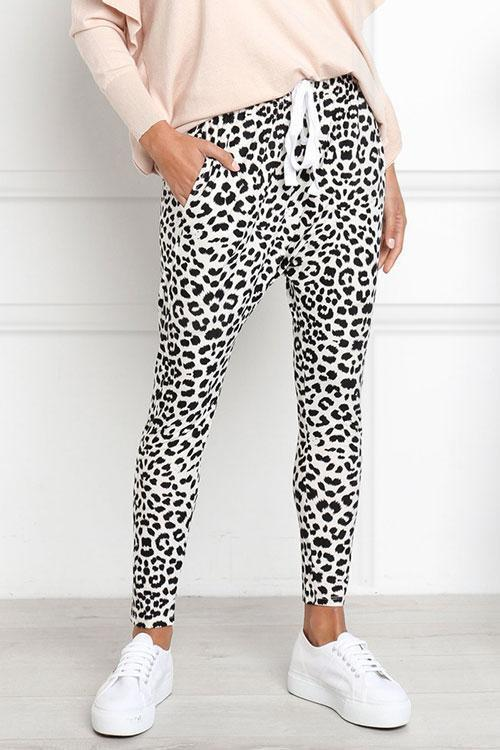 Casual Women's Printed Leopard Pants