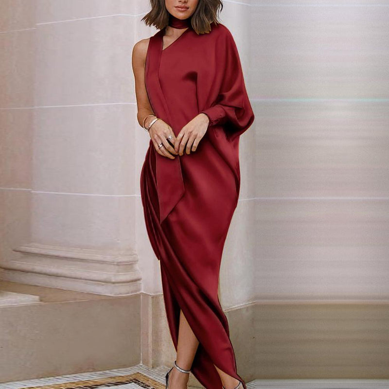 Elegant Party Dress With One-Shoulder  Princess Sleeve