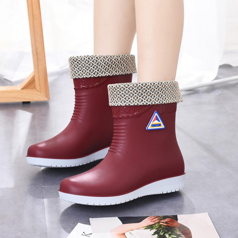 PVC All Season Flat Heel Rain Boots