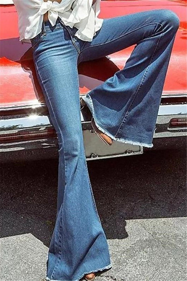 70's Elastic Bell Retro Bell Jeans