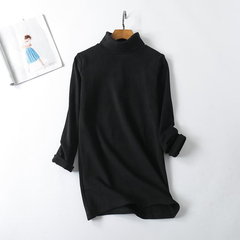 Pure Color Loose Long Sleeve T-shirt