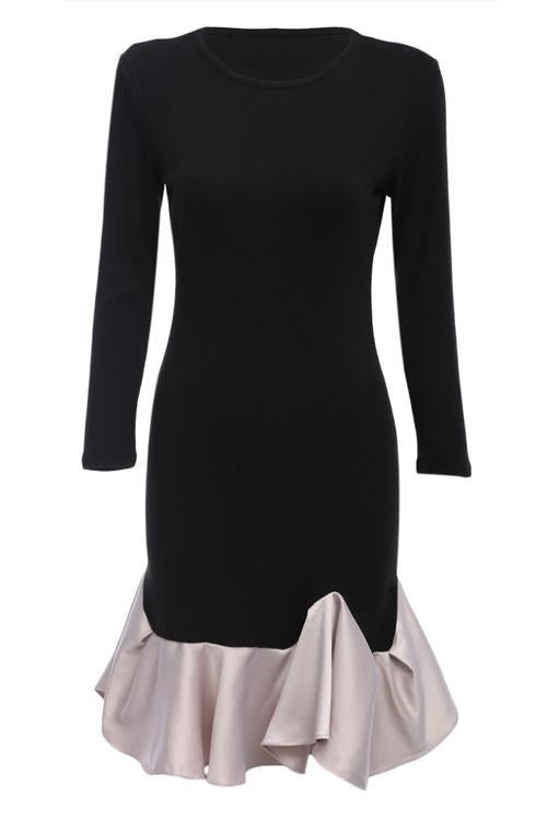 Girlonstyle Adore Me Black Ruffle Dress