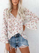 ELSEWHERE FLORAL SWISS DOT BLOUSE