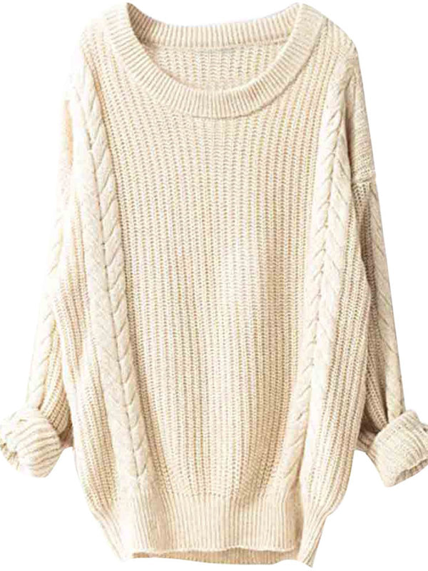 4 Colors Solid Casual Sweaters