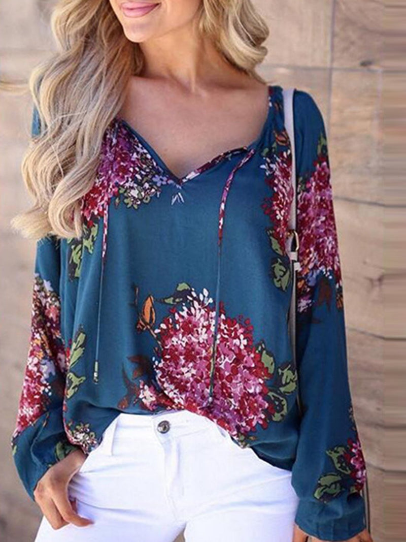 Round Neck Elegant Blouse