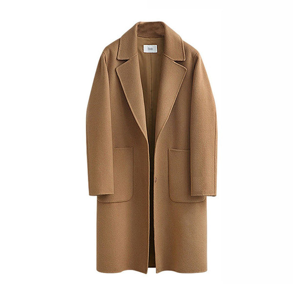 Women's Fashion Single-breasted Overcoat